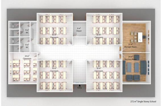 Сглобяема Класна Стая 272 м²