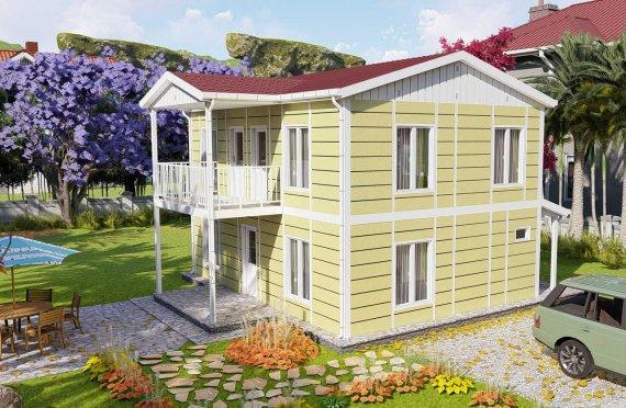128м2 Естетични Сглобяеми Къщи