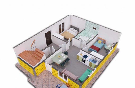 Сглобяема къща с обща площ 137 м2