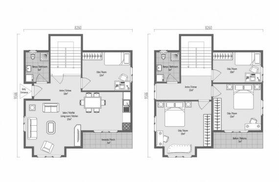 138 м2 Модни сглобяеми домове
