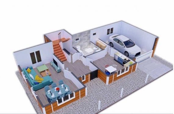 196 м2 Големи двойни етажни сглобяеми къщи