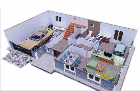 206м2 Сглобяеми Къщи с Тераса