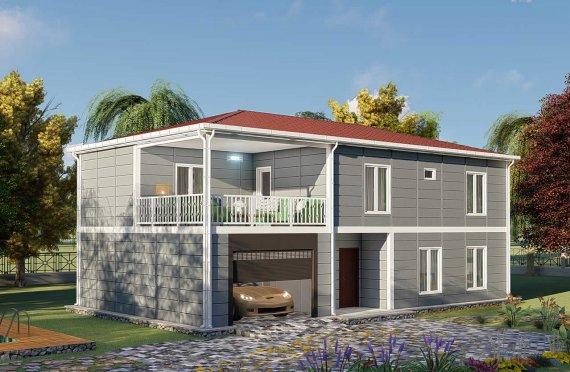 206 м2 Сглобяеми къщи с тераса