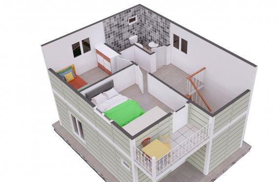 91м2 Двуетажни Сглобяеми Къщи