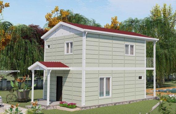 91 м2 Сглобяеми къщи с двойна история