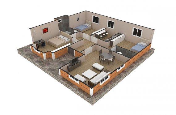 къща с метална конструкция цена