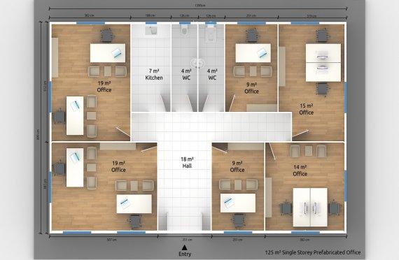 Модулна Офис Постройка  125 м²