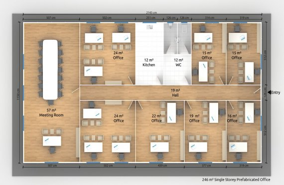 Модулна Офис Постройка  246 м²