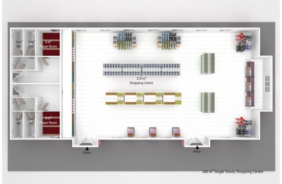 Модулен Супермаркет 260 м²