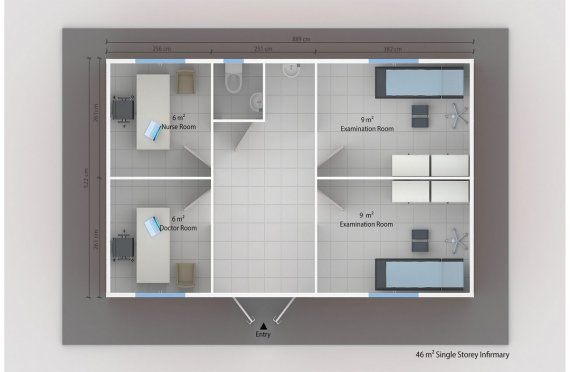 Модулна Амбулатория 46 м²