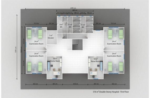 Модулна Болница 576 м²