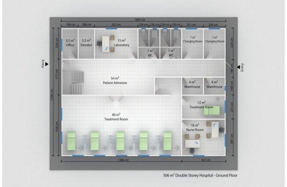 Модулна Болница 506 м²