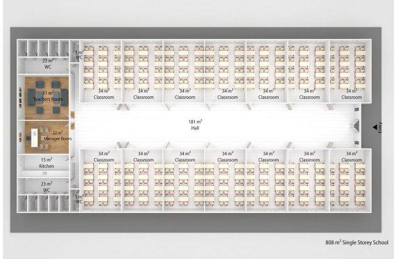 Мобилни Класни Стаи 808 м²