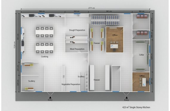 Модулна Кухня 423 м²