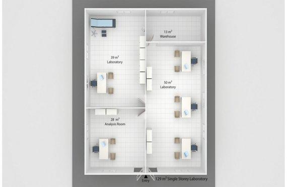 Модулна Лаборатория 129 м²