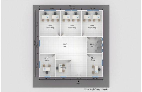 Модулна Лаборатория 222 м²