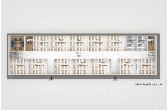 Мобилна Класна Стая 681 м²