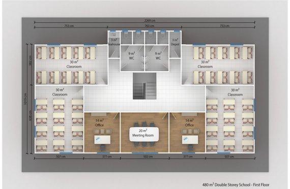 Сглобяема Класна Стая 408 м²