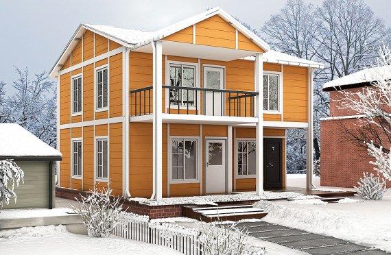 Сглобяема Къща 112 м²