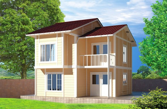 Сглобяема Къща 91 м²