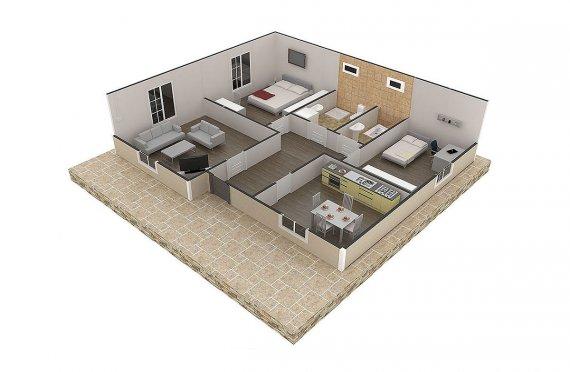сглобяема къща с метална конструкция цена