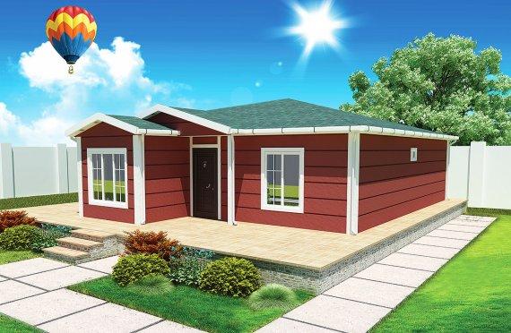Сглобяема Къща 96 м²