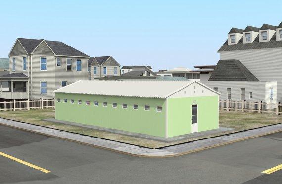 Постройка на Сглобяема Тоалетна & Баня 97 м²
