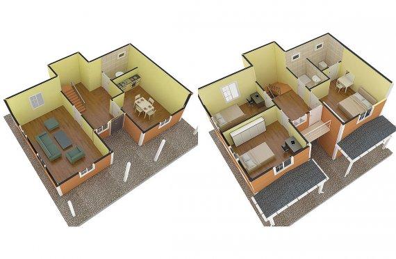 сглобяеми дървени къщи цена