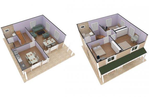 сглобяеми къщи с метална конструкция цена