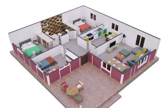123м2 Летни Модулни Къщи