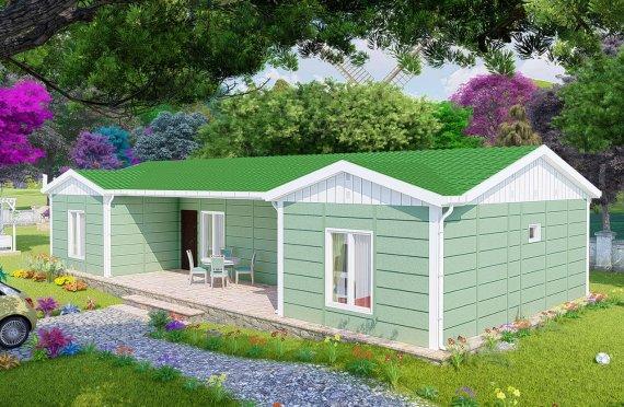102м2 Модулни Къщи с Двойна Стая