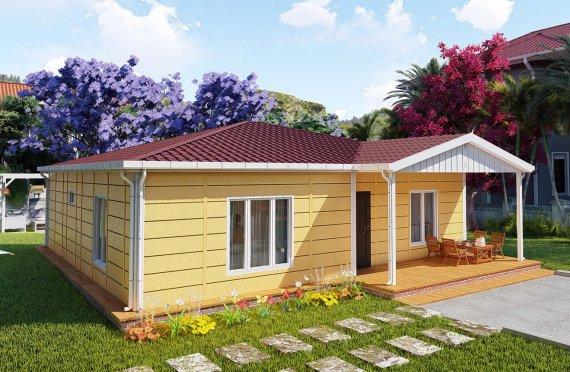 103 м2 Модулна къща с веранда