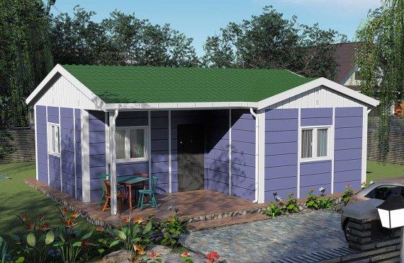 51 м2 Малки Едноетажен Модулни Къщи