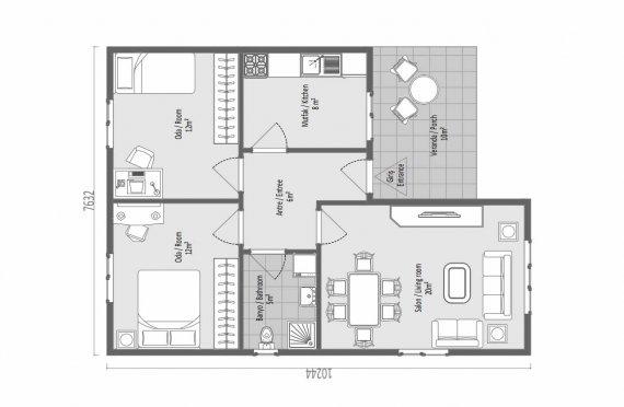 73 м2 Модулни планински къщи