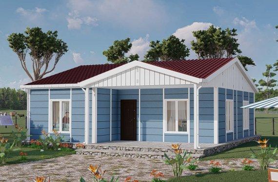 82 м2 модулни къщи с висок покрив