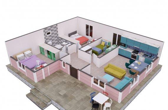 87м2 Едноетажни Модулни Къщи