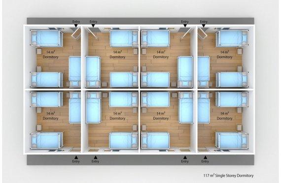 Модулна Единица за Настаняване 117 м²