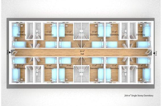 Модулна Единица за Настаняване 204 м²