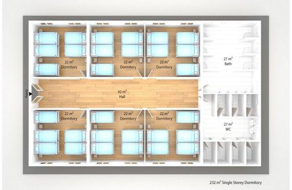Модулна Единица за Настаняване 232 м²