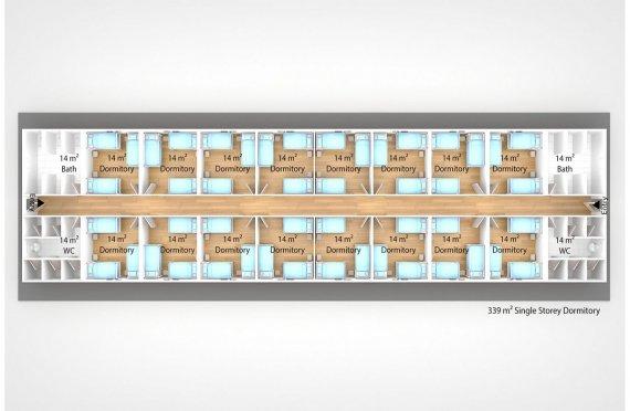 Модулна Единица за Настаняване 339 м²