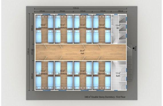Модулна Единица за Настаняване 348 м²