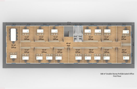 Модулна Офис Постройка  588 м²
