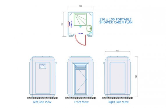 150x150 Мобилна Кабина Тоалетна & Баня