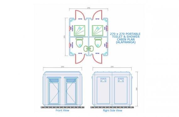 270x270 Мобилна Кабина Тоалетна & Баня