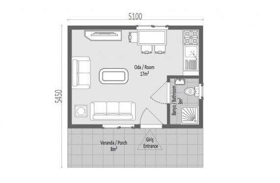 28 м2 Модулни домове с една история