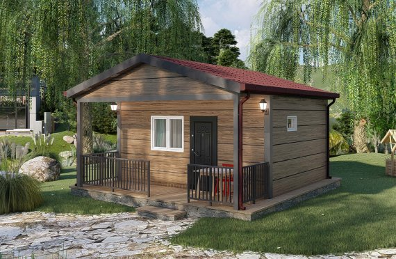 28 м2 едноетажни модулни къщи