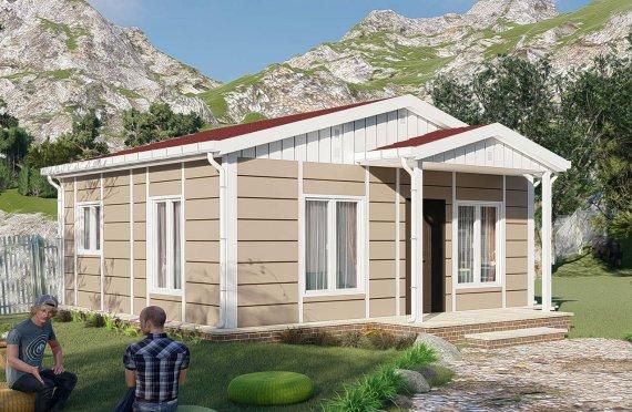 45 м2 носталгия едноетажни модулни къщи