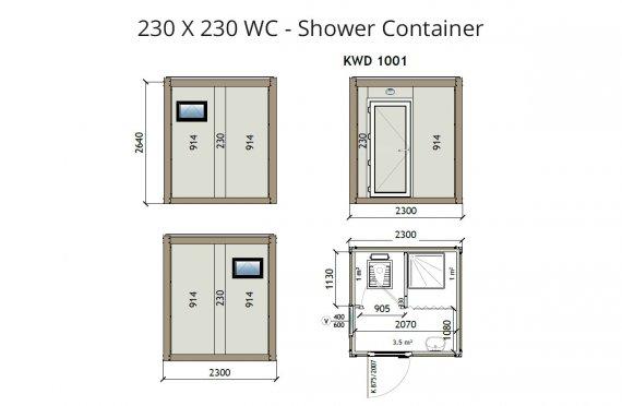 KW2 230X230 Контейнер Тоалетна - Баня