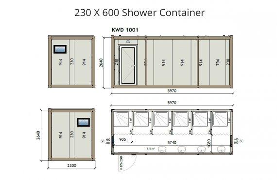 KW6 230X600 Контейнер Баня
