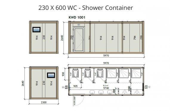 KW6 230X600 KWD 141 Санитарни контейнери